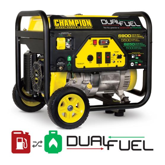 5500 Watt Dual Fuel Generator Champion Power Equipment